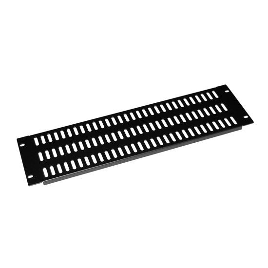 Picture of AVRVBP-3U: DYNAMIX AV Rack 3RU metal blanking panel with vented holes, with #10-32 and #10-32 screws