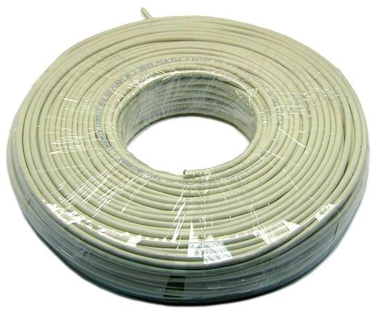 Picture of C-C5E-SOL-R100: DYNAMIX 100m Cat5e Ivory UTP SOLID Cable Roll 100MHz, 24AWGx4P, PVC Jacket, Supplied as a Roll