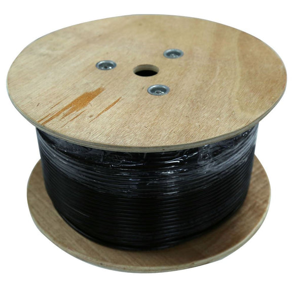 Picture of C-C6-SLDGEL500: DYNAMIX 500m Cat6 Black SOLID GEL Filled Outdoor cable, 23AWGx4P, 250Mhz, UV Stabilised Black PE Jacket, Supplied on a Wooden Reel. *** BELOW GROUND INSTALLATION