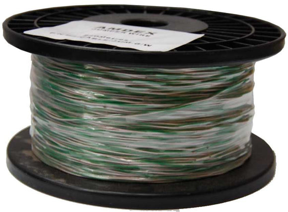 Picture of C-JW-GW: DYNAMIX 250m Green & White Jumper Cable, Copper:0.45mm (non-tinned). Solid Overall diameter: 0.90mm. PVC Insulation