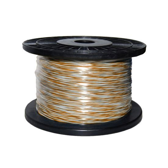 Picture of C-JW-OW: DYNAMIX 250m Orange & White Jumper Cable Roll Copper: 0.5mm (non-tinned). Solid Overall diameter: 0.90mm. PVC Insulation