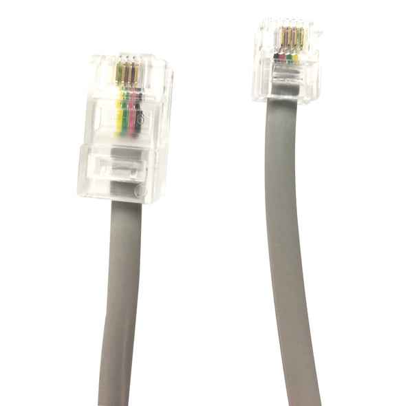 Picture of C-RJ1245-2: DYNAMIX 2m RJ12 to RJ45 Cable - 4C All pins connected crossed, Colour Grey