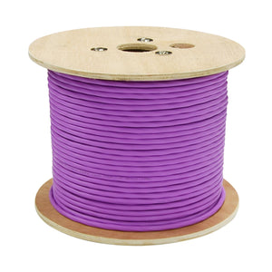 Picture of CA-144C-152: DYNAMIX 152m 4Core 14AWG/2.08mm Dual Sheath High-Performance Speaker Cable. 41/0.25BCx4C. OD: 9.8mm, Rip Cord CL3 Rated. Colour Violet Jacket. Meter Marked.