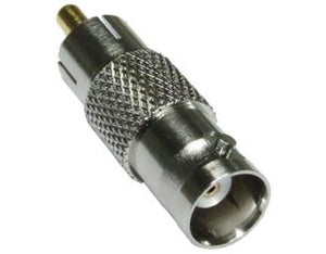 Picture of CCTVRCABNC: DYNAMIX BNC Female to RCA Male Adapter.