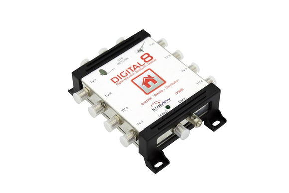 Picture of DDM8: STARVIEW Digital 2x 8 Digital Distribution Amplifier. Satellite & Terrestrial inputs.