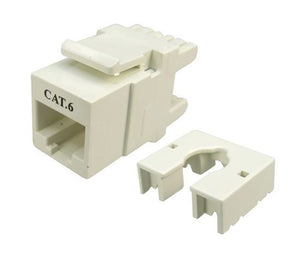 Picture of FP-C6-007: DYNAMIX Cat6 Keystone RJ45 Jack for 110 Face Plate. T568A/T568B Wiring. 180 Jack.