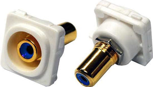 Picture of FP-RCA-BL: AMDEX Blue RCA to RCA Jack. Gold Plated