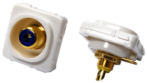 Picture of FP-RCASC-BL: AMDEX Blue RCA to Solder Connector. Gold Plated
