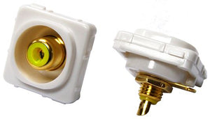 Picture of FP-RCASC-YE: AMDEX Yellow RCA to Solder Connector. Gold Plated