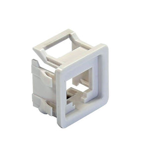 Picture of FP-RJCWH: DYNAMIX RJ45 Keystone to PDL600 Series Compatible Modular Clip. 10 pack. Colour White