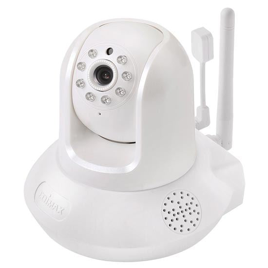Picture of IC-7113W: EDIMAX Smart HD Wi-Fi Motorized Pan/Tilt Network Camera with Temperature & Humidity Sensor, Day & Night Vision. Motion & Sound Detection. Two-way Audio. MicroSD/SDHC card slot.