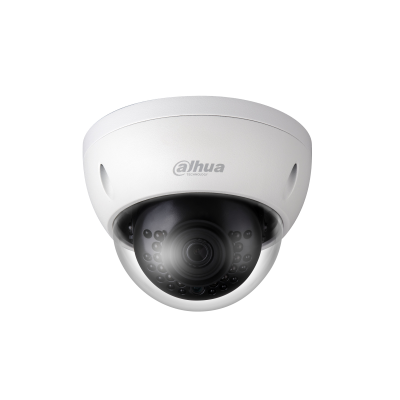 Picture of IPC-HDBW4431E-AS: DAHUA 4MP IR Mini Dome IP Camera H.265/H.264 triple-stream encoding 25/30fps@4MP (2688x1520) WDR (120 dB) Day/Night (ICR), 3DNR, AWB, AGC , BLC. 2.8mm fixed lens, Max IR: 30 m. Micro SD memory, IP67, IK10, PoE