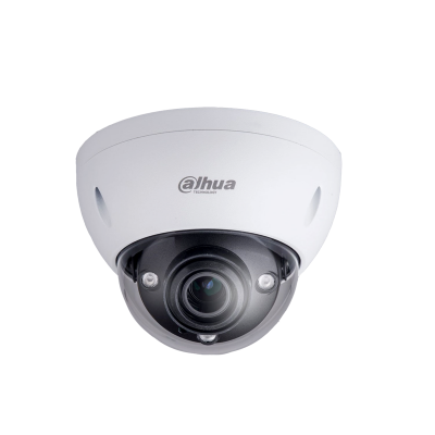 Picture of IPC-HDBW5431E-Z: DAHUA 4MP WDR IR Dome IP Camera H.265/H.264 triple-stream encoding 25/30fps@4MP (26881520) WDR (120 dB) Day/Night (ICR), 3DNR, AWB, AGC , BLC 2.7mm~12mm Motorised Lens, 50m IR, IP67, IK10, PoE, SD Card