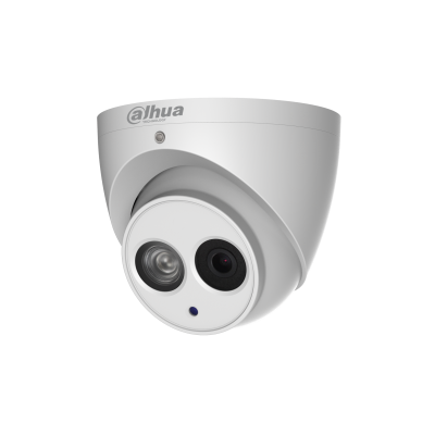 Picture of IPC-HDW4431EM-AS: DAHUA 4MP IR Turret IP Camera, H. 265/H.264 triple-stream encoding 25 /30fps@4MP (2688x1520) WDR (120dB). Day/Night (ICR), 3DNR, AWB, AGC, BLC. 2.8mm Fixed Lens, Built in Mic , IP67, PoE, Micro SD, Max IR: 50m