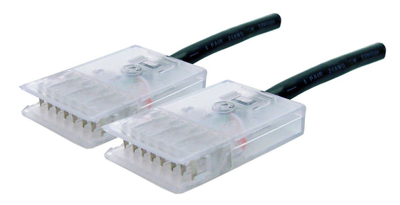 Picture of PL-1104P-2: DYNAMIX 2m 4x Pair 110/110 Cat5e Patch Lead: Default Black, A spec *** CABLES MADE TO ORDER 2-3 DAY LEAD TIME