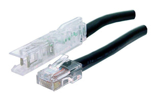 Picture of PL-110RJ1P-1: DYNAMIX 1m 1x Pair 110/RJ45 Cat5e Patch Lead: Default Black, A spec *** CABLES MADE TO ORDER 2-3 DAY LEAD TIME