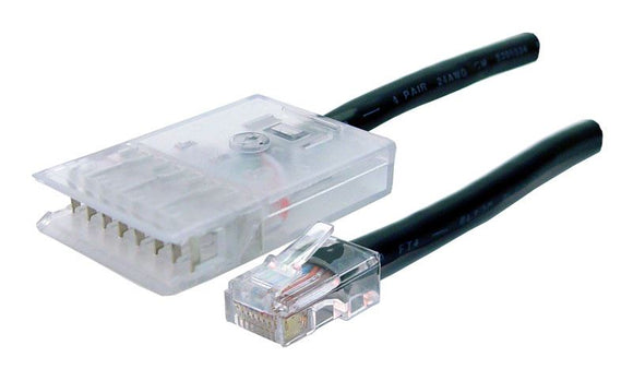 Picture of PL-110RJ4P-1: DYNAMIX 1m 4x Pair 110/RJ45 Cat5e Patch Lead: Default Black, A spec *** CABLES MADE TO ORDER 2-3 DAY LEAD TIME
