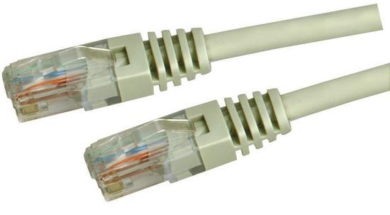 Picture of PL-C5E-10: DYNAMIX 10m Cat5e Beige UTP Patch Lead (T568A Specification) 100MHz Slimline Moulding & Latch Down Plug 24AWG.
