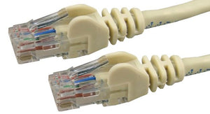 Picture of PL-C6A-2: DYNAMIX 2m Cat6 Beige UTP Patch Lead (T568A Specification) 250MHz Slimline Snagless Moulding. 24AWG.