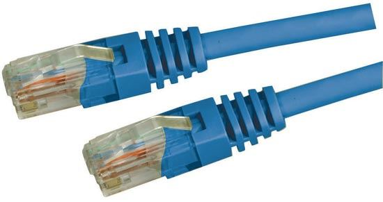 Picture of PLE-C5E-5: DYNAMIX 5m Cat5e Blue UTP Patch Lead (T568A Specification) 100MHz Slimline Moulding & Latch Down Plug
