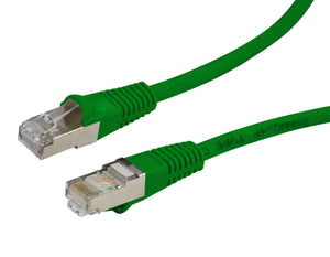 Picture of PLG-AUGS-1H: DYNAMIX 1.5m Cat6A Green SFTP 10G Patch Lead. (Cat6 Augmented) 500MHz Slimline Moulding