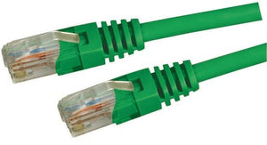 Picture of PLG-C5E-7H: DYNAMIX 7.5m Cat5e Green UTP Patch Lead (T568A Specification) 100MHz Slimline Moulding & Latch Down Plug