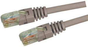 Picture of PLGY-C5E-2: DYNAMIX 2m Cat5e Grey UTP Patch Lead (T568A Specification) 100MHz Slimline Moulding & Latch Down Plug