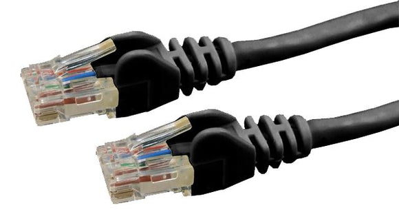 Picture of PLK-C6A-5: DYNAMIX 5m Cat6 Black UTP Patch Lead (T568A Specification) 250MHz Slimline Snagless Moulding