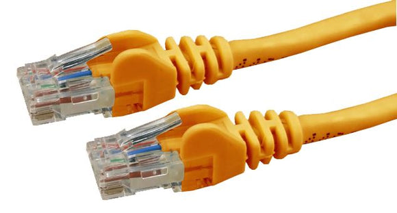 Picture of PLO-C6A-0: DYNAMIX 0.5m Cat6 Orange UTP Patch Lead (T568A Specification) 250MHz Slimline Snagless Moulding
