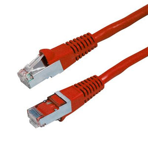 Picture of PLR-AUGS-1H: DYNAMIX 1.5m Cat6A Red SFTP 10G Patch Lead. (Cat6 Augmented) 500MHz Slimline Moulding