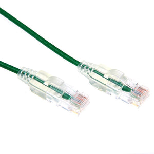 Picture of PLSG-C6-2: DYNAMIX 2m Cat6A 10G Green Slimline Component Level UTP Patch Lead (30AWG)