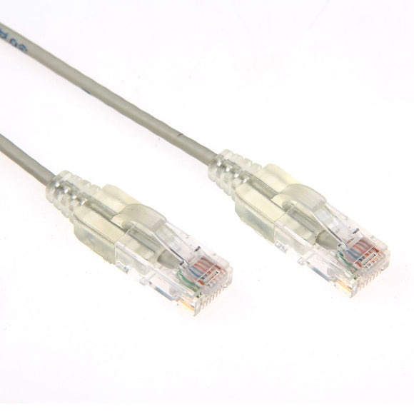 Picture of PLSGY-C6-2.5: DYNAMIX 2.5m Cat6A 10G Grey Slimline Component Level UTP Patch Lead (30AWG)