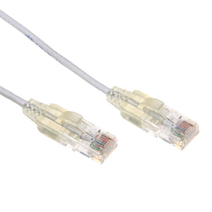 Picture of PLSW-C6-1.25: DYNAMIX 1.25m Cat6A 10G White Slimline Component Level UTP Patch Lead (30AWG)