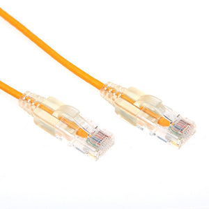 Picture of PLSY-C6-1.5: DYNAMIX 1.5m Cat6A 10G Yellow Slimline Component Level UTP Patch Lead (30AWG)