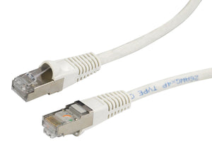 Picture of PLW-AUGS-10: DYNAMIX 10m Cat6A White SFTP 10G Patch Lead. (Cat6 Augmented) 500MHz Slimline Moulding