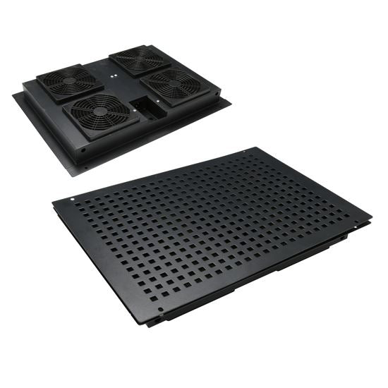 Picture of RAFANKITSR: DYNAMIX Fan Drop in Tray for SR Series Cabinets. 450 x 316 x 52mm (Inner Dims 400 x 265 x 50mm)