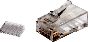 Picture of RJ-45-C6R2-20: DYNAMIX Cat6 RJ45 Plug 20pc Bag, 8P8C 2 Piece Modular Plug (Rounded Stranded). 50 micron