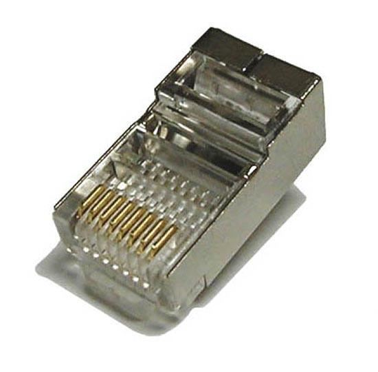 Picture of RJ-45-SRSH-JAR: DYNAMIX RJ45 100pc Jar, (Round Solid) 8P8C Shielded Modular Plug. 50 micron