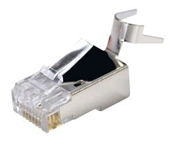 Picture of RJ-45C6SR23-20: DYNAMIX RJ45 Cat6/6A 23AWG Solid Shielded Round Modular Plug . 20pc Bag. 8P8C 50U with insert