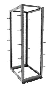 Picture of ROF4P22: DYNAMIX 22U 4 Post Depth Adjustable open Frame rack, Depth 559mm~1023mm. Supplied in flat pack.
