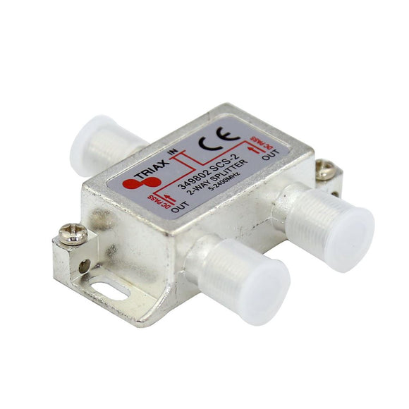 Picture of 349802: TRIAX RF 2-Way Splitter, 5~2400MHz. All ports power pass - diode steered.