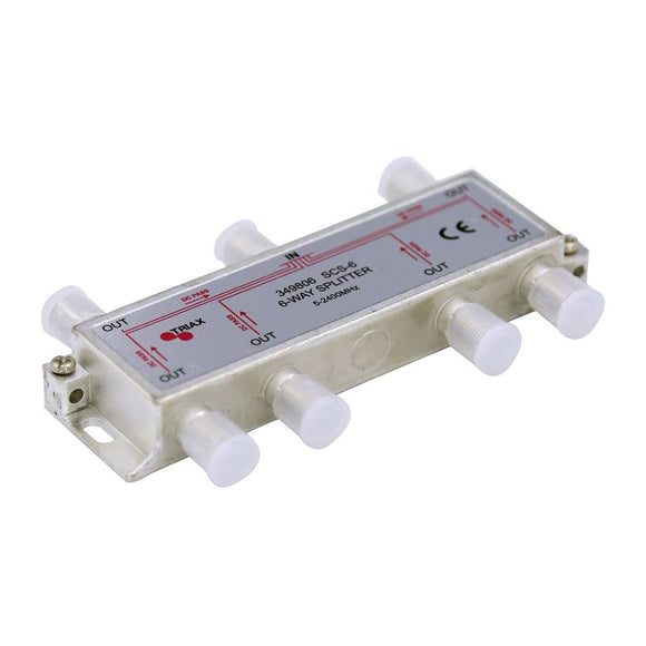 Picture of 349806: TRIAX RF 6-Way Splitter 5-2400MHz. All ports power pass - diode steered.
