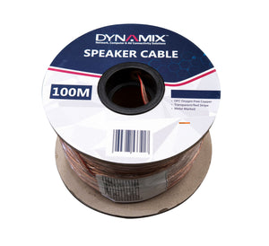 Picture of CA-SPK16-100: DYNAMIX 100m 16AWG/1.31mm Speaker Cable, OFC 25/025BCx2C, Clear PVC Insulation, OD: 4.0x 8.0mm. Meter Marked