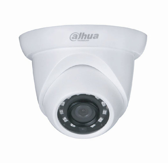 Picture of IPC-HDW1431S: DAHUA 4MP IP Small IR Day/Night Eyeball Camera. 20fps@4MP (2688x 1520). Fixed 2.8mm lens. Max IR: 30m. IP67. Supports PoE. Colour White.