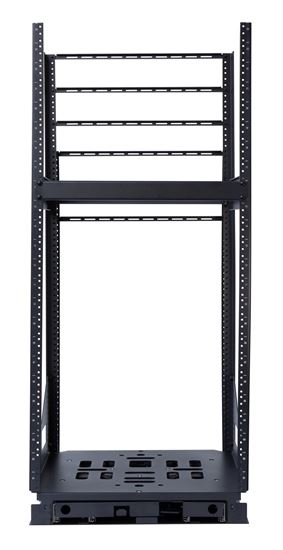 Picture of AVROT24-500: DYNAMIX 19'' 24U Rotary Rack. Rotation Angles of  45 & 90 Allow Easy Fitting of Equipment, Provide Easy Access for Maintenance & Servicing. 3mm steel adds Security & Stability. 503mm x 495.84mm x 24U