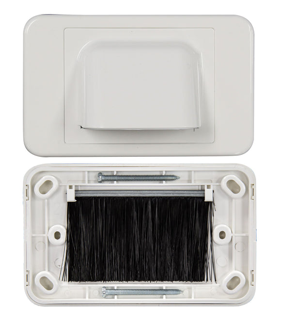 Picture of FP-BN: DYNAMIX AV Bull Nose Brush Plate. 2 Piece. White Colour.