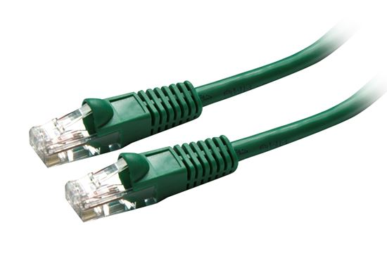 Picture of PLG-OEM-PP: DYNAMIX 0.3m Cat5e OEM Green UTP Patch Lead (T568A Specification)