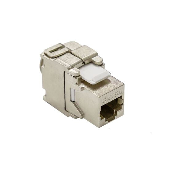 Picture of FP-C6AUGS-05: DYNAMIX Cat6A Class EA 10G Shielded Keystone Slimline Jack. Tooless degree IDC