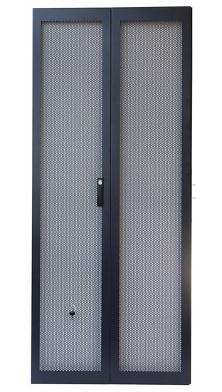 Picture of RSRFD42RU: DYNAMIX 42RU Dual Mesh Pantry Style Door Kit for SR Series Cabinets
