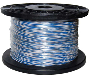 Picture of C-JW-BW: DYNAMIX 250m Blue & White Jumper Cable Roll, Copper: 0.5mm (non- tinned). Solid Overall diameter: 0.90mm. PVC Insulation